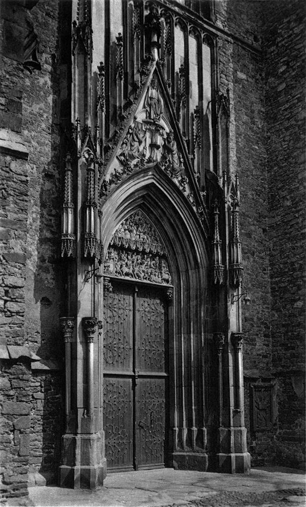 Stary Strzegom - fotografia - Bazylika Strzegom portal wejście główne