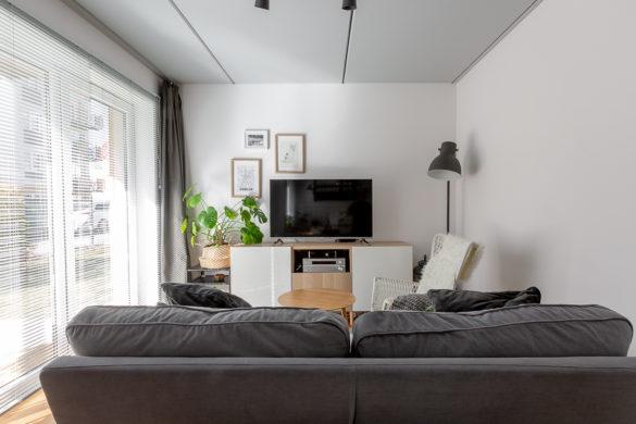 Mieszkanie dobrze urządzone - Wrocław - salon - sofa