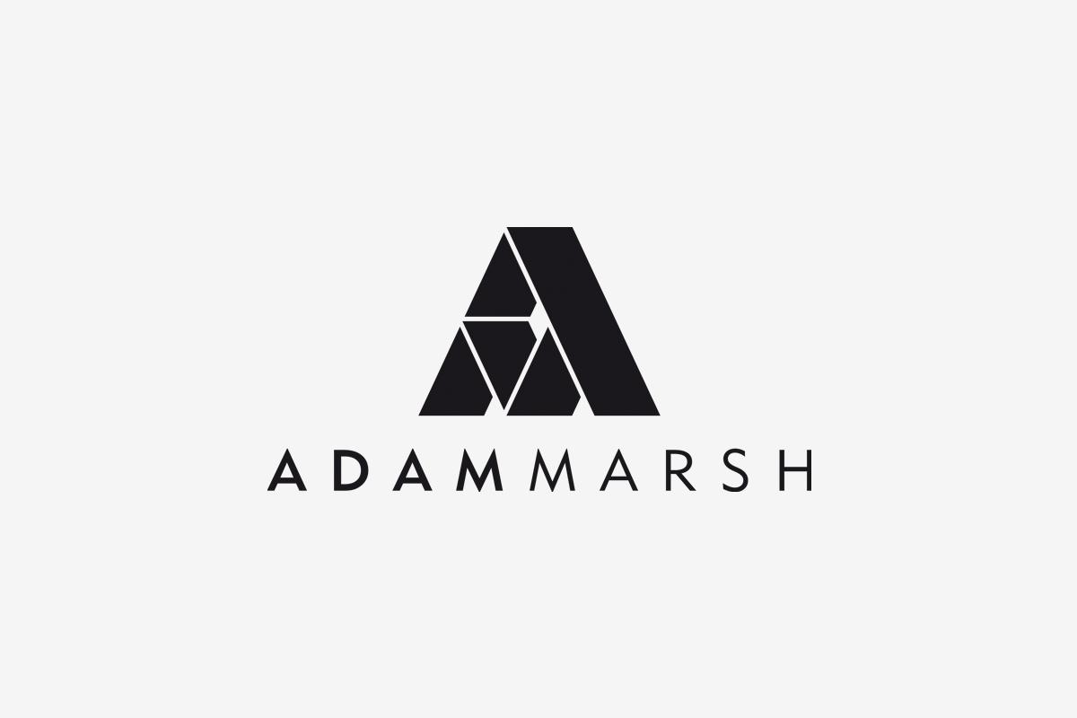 Adam Marsh logo - powstanie logotypu
