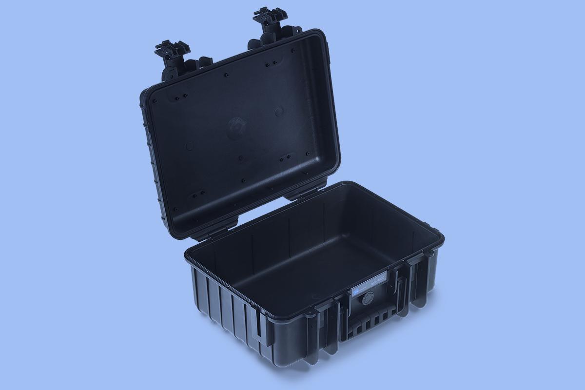 Walizka fotografa - sztywna walizka fotograf wnętrz - otwarta walizka