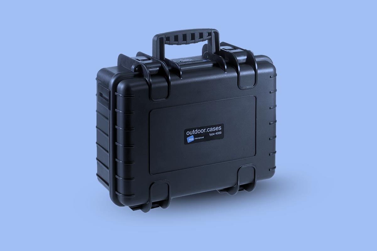 Walizka fotografa - sztywna walizka fotograf wnętrz - walizka czarna