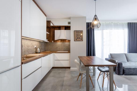 Kuchnia i pokój dzienny