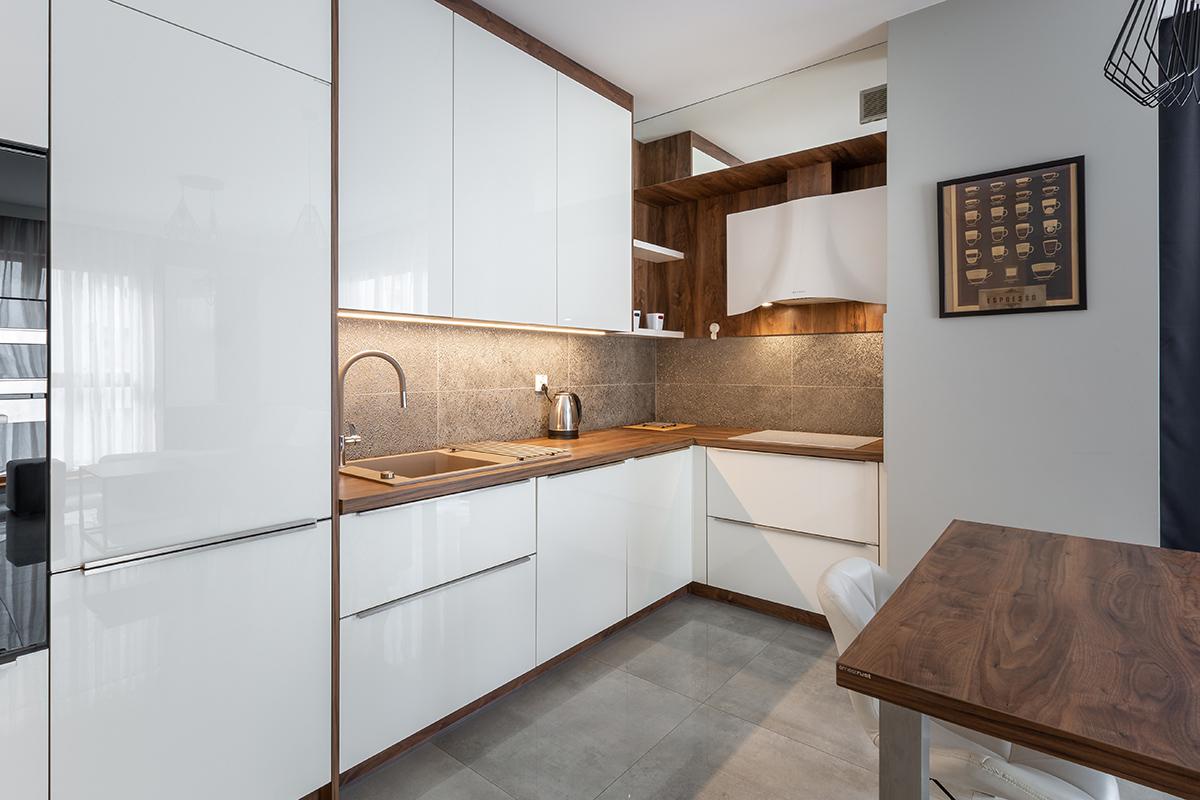 Kuchnia nowoczesna Wrocław apartament